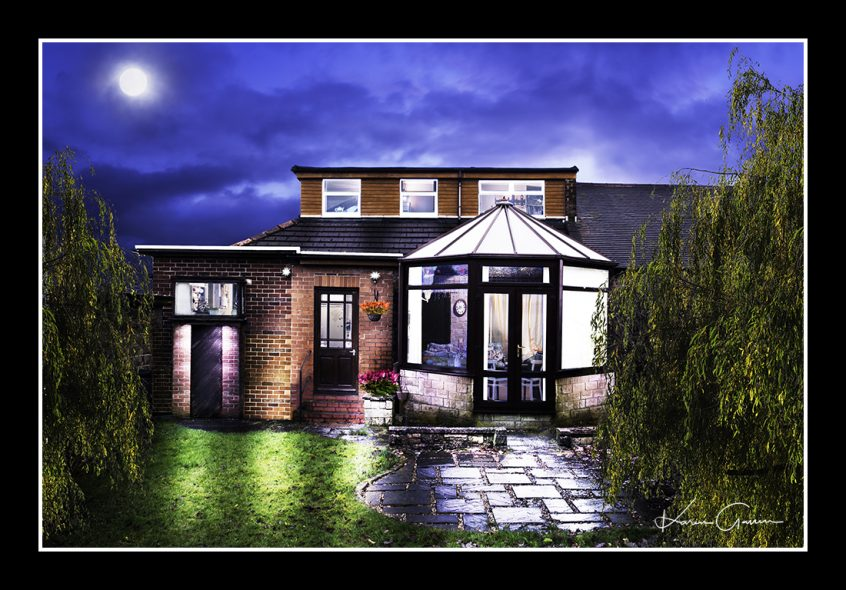 dormer bungalow in the style of a fine art property photograph